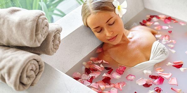 banho rosas