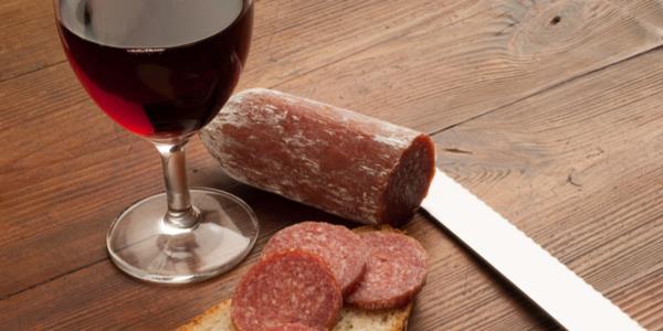 vinho salame