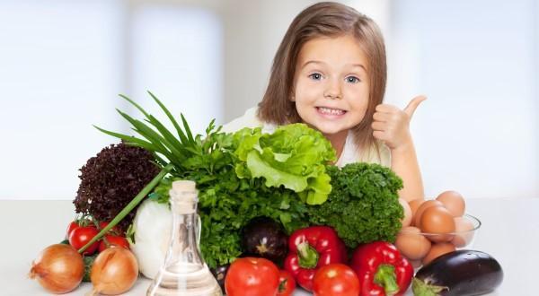 crianças comem saudável