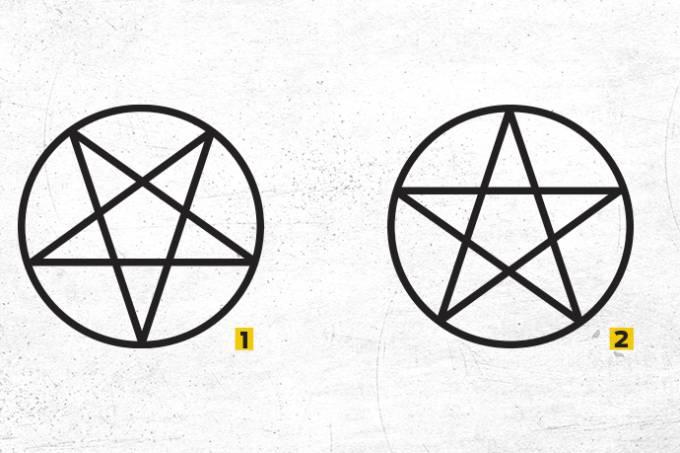 pentagrama invertido