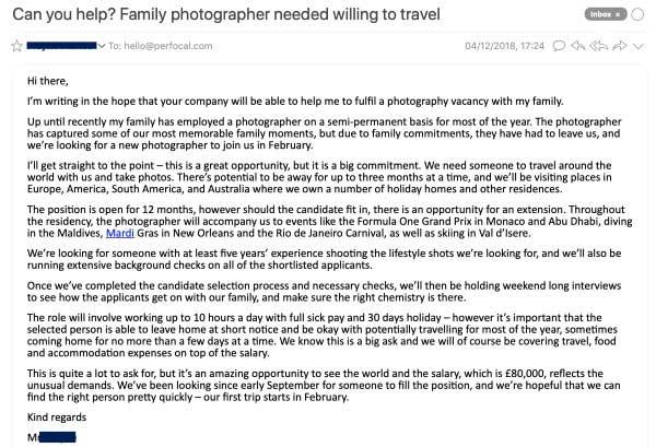 email familia fotografo