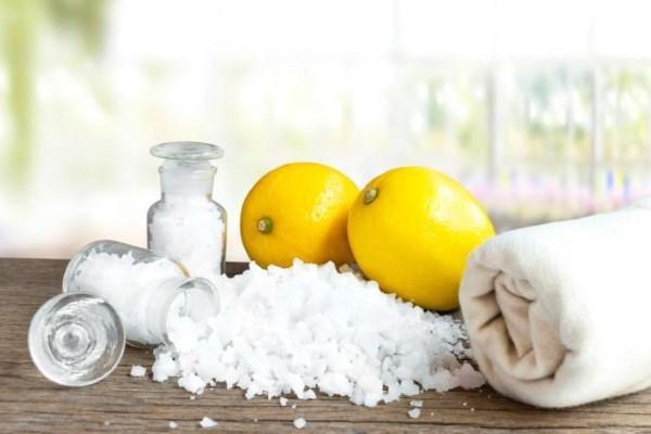 limpieza com sal