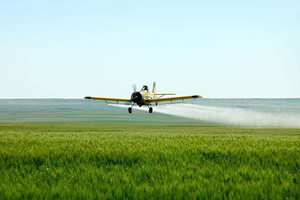 Pulverização aérea de agrotóxico