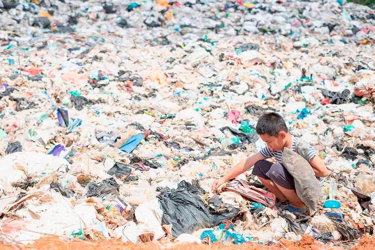plástico-crianças