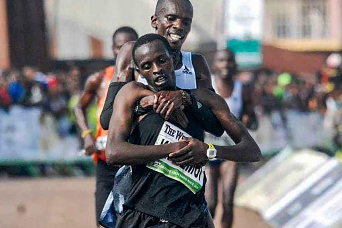 Simon Cheprot e Kenneth Kipkemoi