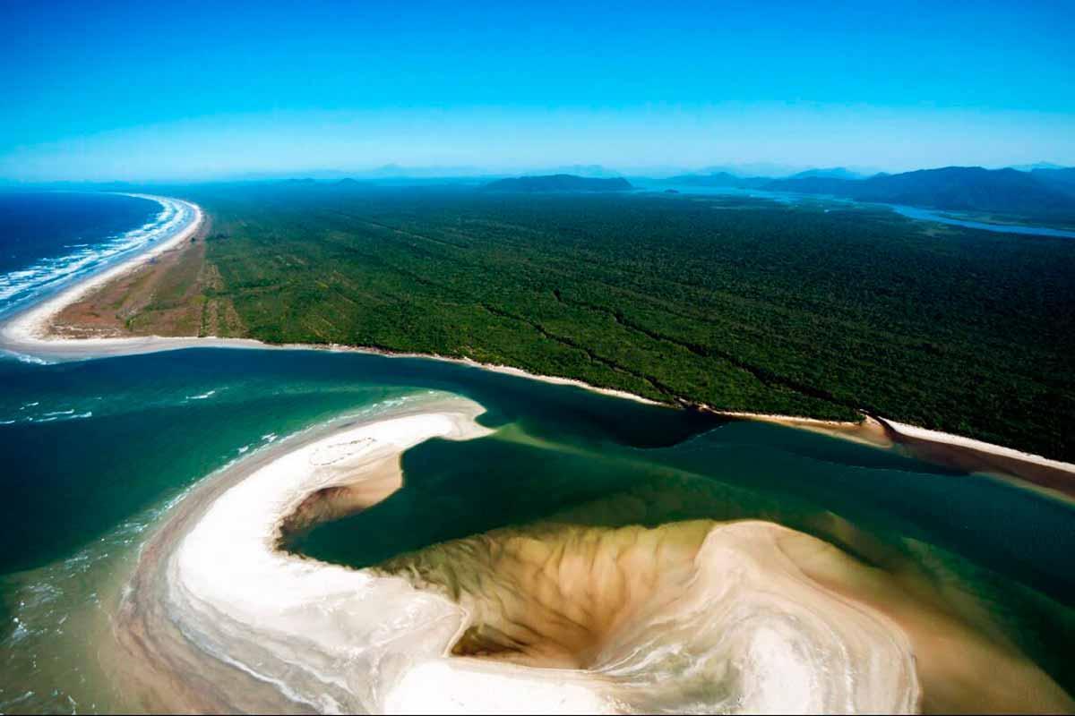 Vista aérea Grande Reserva Mata Atlântica